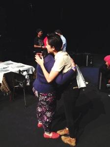 Kina hugged me!