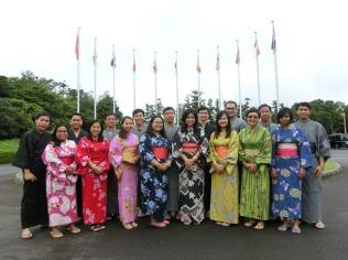 All the participants wore Yukata during the cultural day